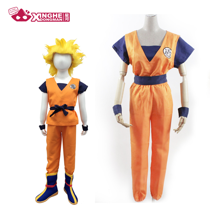 Milky Way Anime Dragon Ball Kids Z Son Goku Cosplay Costume Adult Children Halloeen Clothing Child Unisex Man Woman Suit