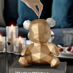 Image 2 - 돼지 저금통 테디 베어 인형 돈 상자 선물 웨딩 스토리지 박스 어린이를위한 돈 동전 홀더 상자 어린이 장난감 동전 은행