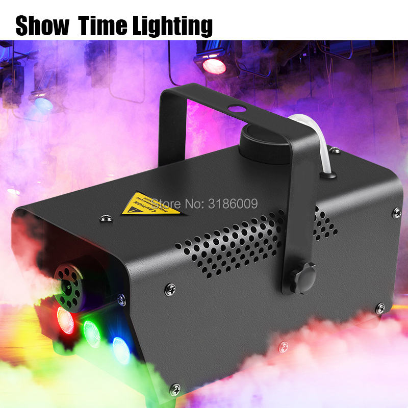 Show Time 400W Fog Machine Line/remote Control Smoke Machine RGB Led Disco DJ Party Make Fog Home Entertain