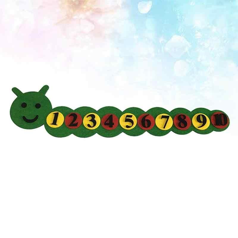 1 zestaw dla dzieci czuł DIY edukacyjne włókniny matematyki dla sąsiad gąsienice i numery sprzęt do nauczania zabawki
