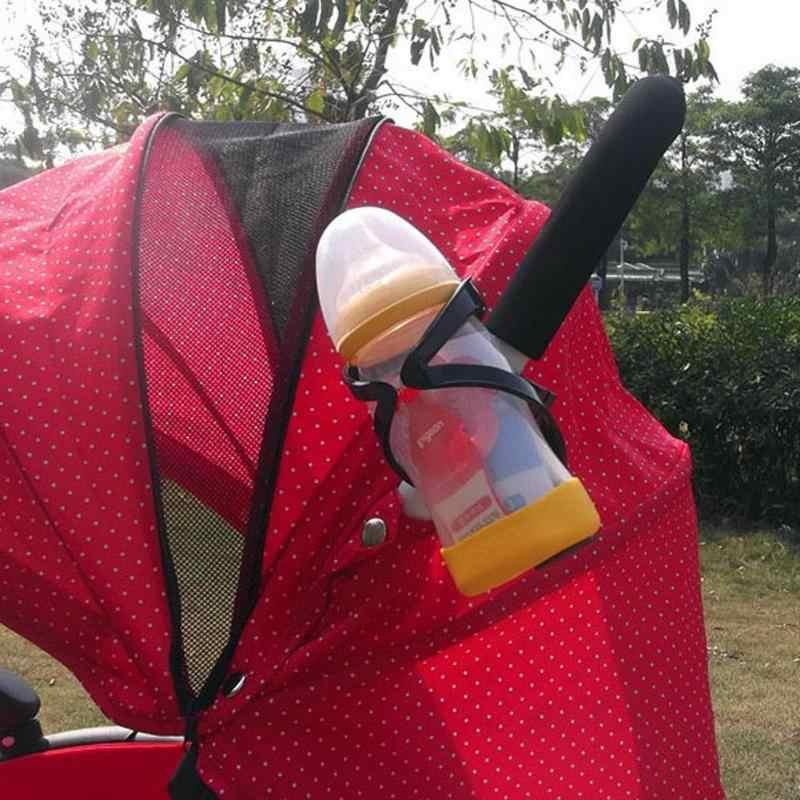 אוניברסלי מחזיק כוס עגלת תינוק תינוקות האכלת בקבוק מחזיק אופניים תובלה מתלה בקבוק ילד עגלת Rotatable Stand מחזיק
