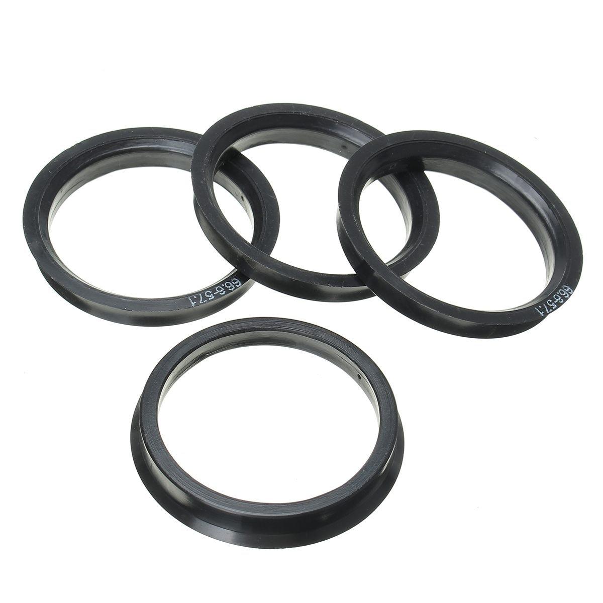 1 Set 4 Hub Centric Rings Car Wheel Bore Center Collar 66.6-57.1mm For AUDI
