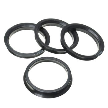 1 Set 4 Hub Centric Rings Car Wheel Bore Center Collar 66.6-57.1mm For AUDI - discount item  4% OFF Auto Replacement Parts