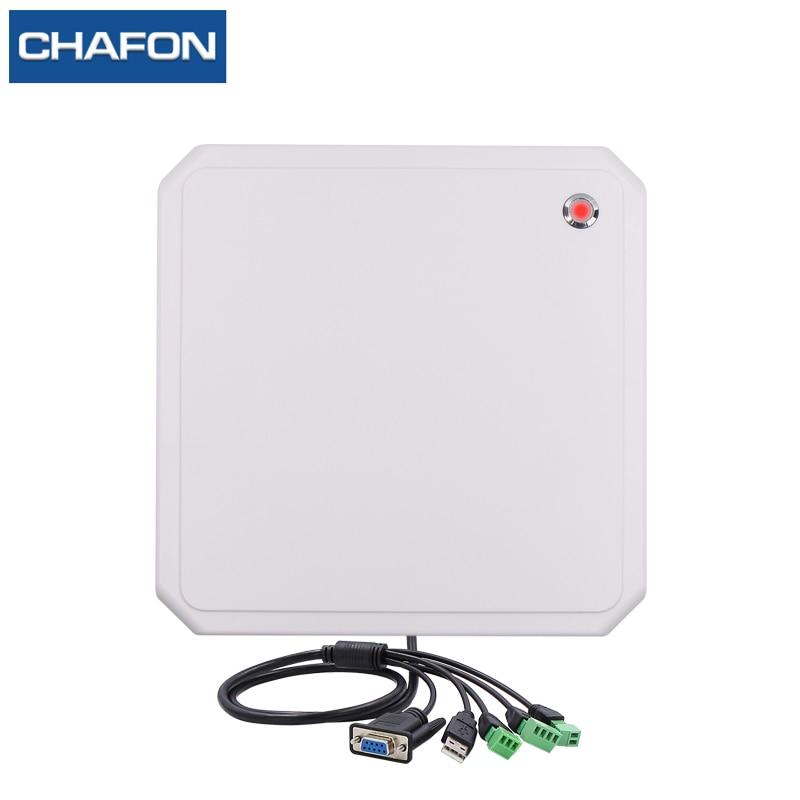 CHAFON 10M uhf rfid reader long range RS232 WG26 USB built in 9dbi circular antenna support