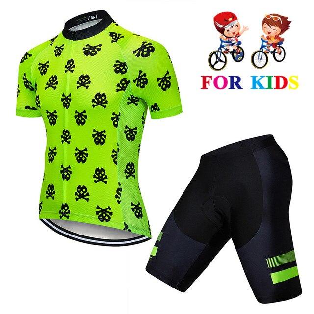 Conjunto de nueva camiseta de ciclismo para niños de secado rápido Kits de ciclismo para niños deportes al aire libre MTB Mini bicicleta para niños ropa