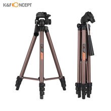 K & F CONCEPT Camera Statief Aluminium Folding Tripod Stand 2 kg/4.4lbs Voor Camera voor Canon Nikon sony DSLR SLR Camera(China)