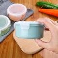 10*10*5cm caja de sellado redondo caja de almuerzo de plástico Mini caja de Crisper sellada granos contenedor de clasificación