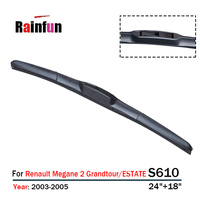 RAINFUN dedicated front wiper blade for Renault Megane 2 Grandtour/ESTATE (2003 2005) & (2006 2009),2 Pcs a lot