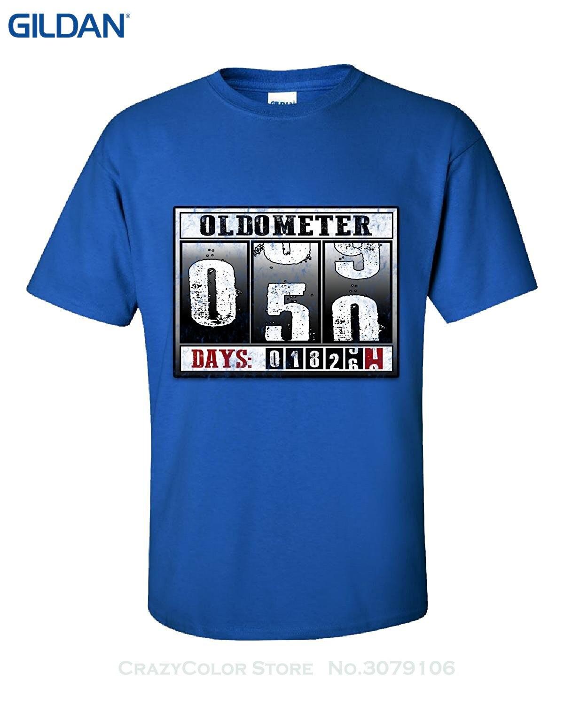 Us 12 17 16 Di Sconto Unisex Più Il Formato Ed I Colori 50th Di Compleanno Oldometer Regalo Divertente Per 50 Anni Adulti Camicia In Magliette Da