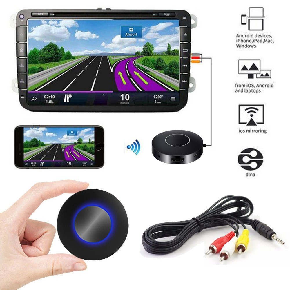 Montoview Auto Car Airplay Miracast Mirascreen Wifi TV Stick Dongle Wireless Digital HDMI Analog AV RCA Video Streamer Display