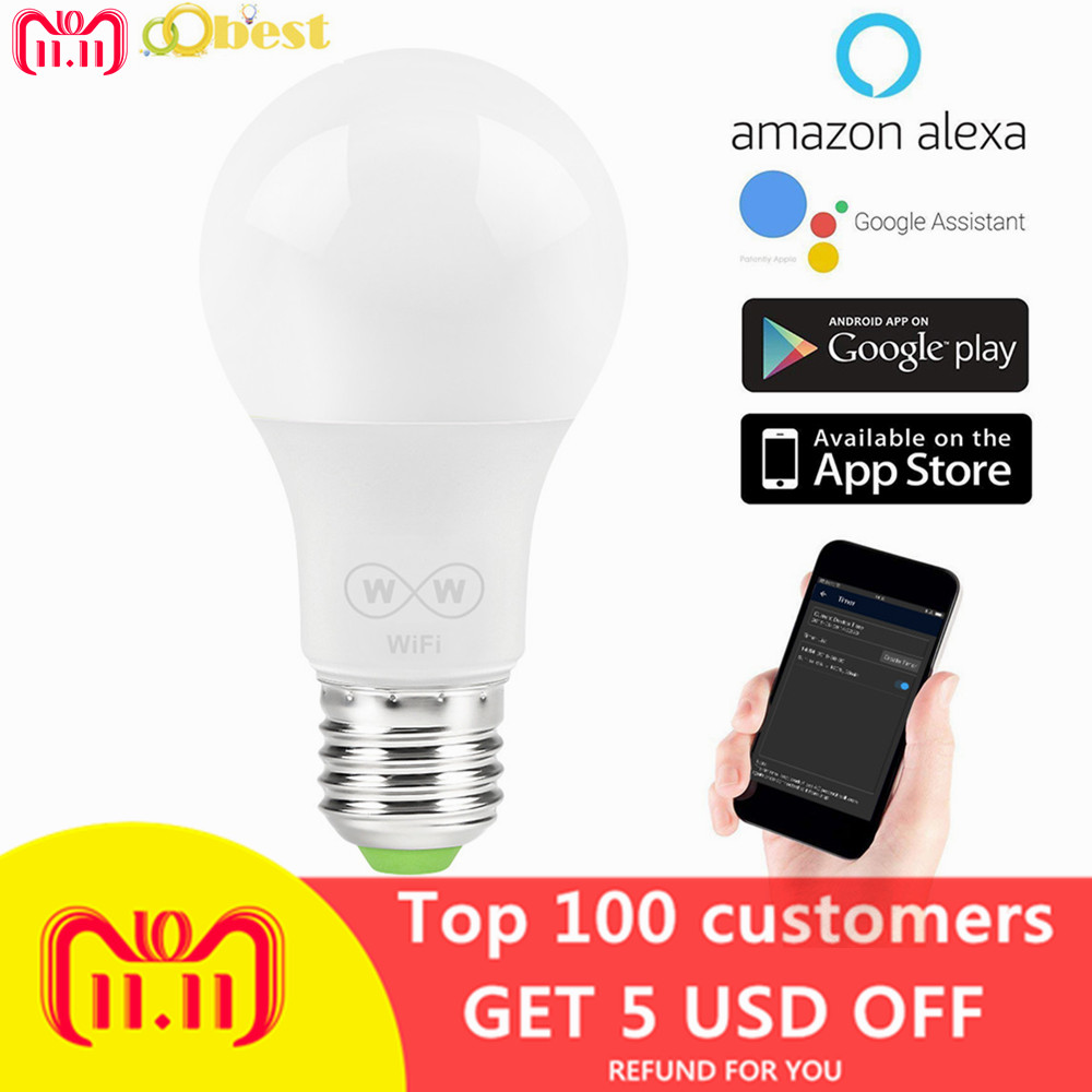 6 5w E27 Wifi Smart Light Bulb Wake Up Lights Led Light