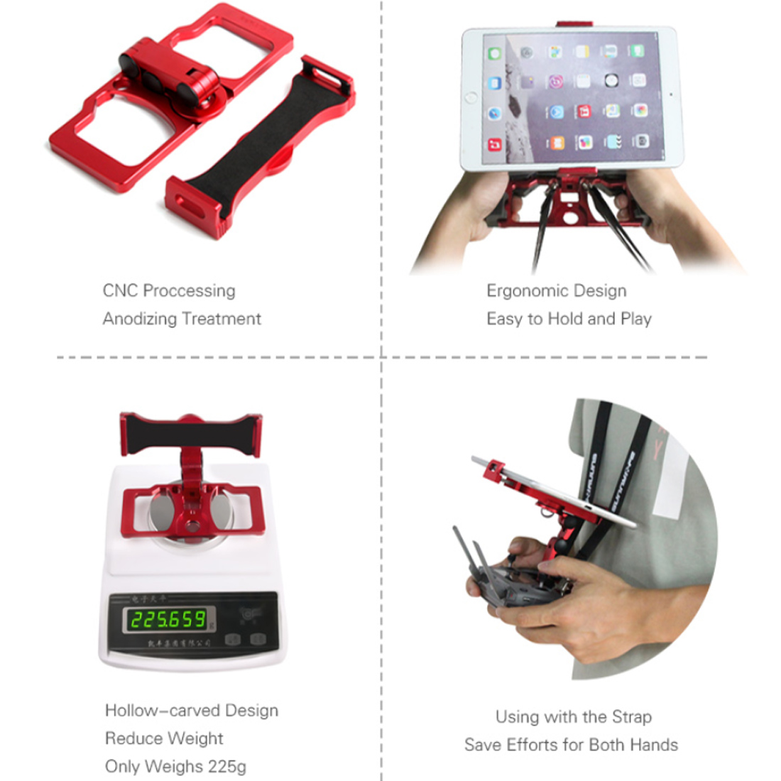Three Use Folding Remote Control Phone Tablet Bracket Holder For DJI MAVIC 2 PRO/ ZOOM/SPARK /AIR With For CrystalSky Holder