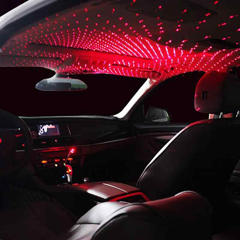 Onever Mini Led Auto Dak Star Night Lights Projector Licht Interieur Ambient Sfeer Galaxy Lamp Decoratie Licht Usb Plug