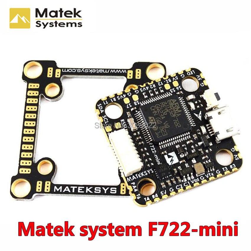 Matek Systems F722 Mini OSD Dual Gyro Flight Controller Acc 32M Flash 5V 2A BEC 2