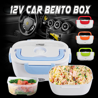 12 24V Portable Electric Heated Lunch Box Car Hot Food Warmer Storage Bento Box for Travel School Office Home Dinnerware 2018