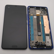 """Azqqlbw الأصلي 5.7 """"ل HTC U الترا شاشة الكريستال السائل مجموعة المحولات الرقمية لشاشة تعمل بلمس ل HTC المحيط ملاحظة عرض مع الإطار + أدوات"""
