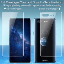 2PCS Full coverage for ZTE Nubia X Screen protector and Back cover protector Imak All Standing Hydrogel Phone Protective Film