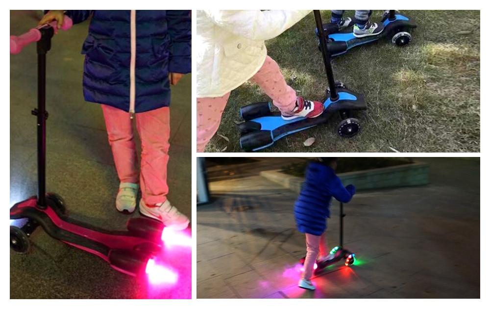 Enfants créatifs enfants Flash Spray Scooter avec poignée réglable monter sur les voitures sport jouet enfant Skateboard Scooter électrique - 6