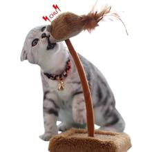 Cat Scratch Post Plush Spring Squeaky Scratcher Pet Teaser 2019 New Arrive