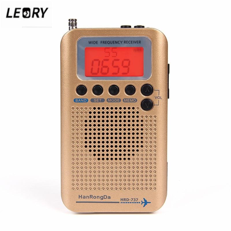 Leory Neue Vhf Flugzeug Band Radio Receiver Tragbare Full Band Radio Für Luft/fm/am/cb/ Vhf/sw Radio Mit Lcd Bildschirm Unterhaltungselektronik
