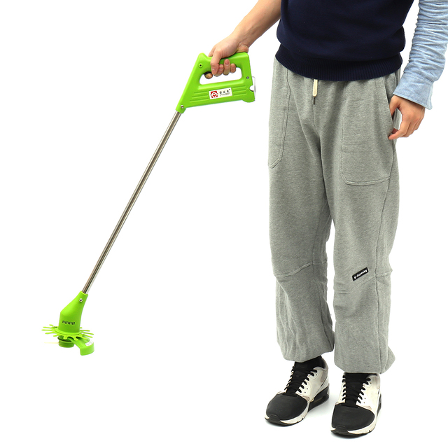 Portable Cordless Electric Grass Trimmer Multifunction Handheld Cutter Lawnmower Steel Blade Garden Power Tools Rechargeable 2