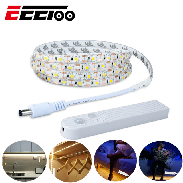 סוללה כוח Luminaria עם Motion חיישן LED ילדי של לילה אור USB Led רצועת טלוויזיה הגמיש המיטה מנורת תאורת ארון