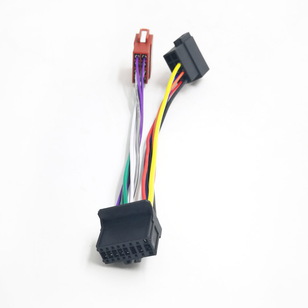 hight resolution of detail feedback questions about biurlink car factory stereo harness wire 16pin port to mini iso 8pin plug wiring cable for pioneer 2003 up on aliexpress com