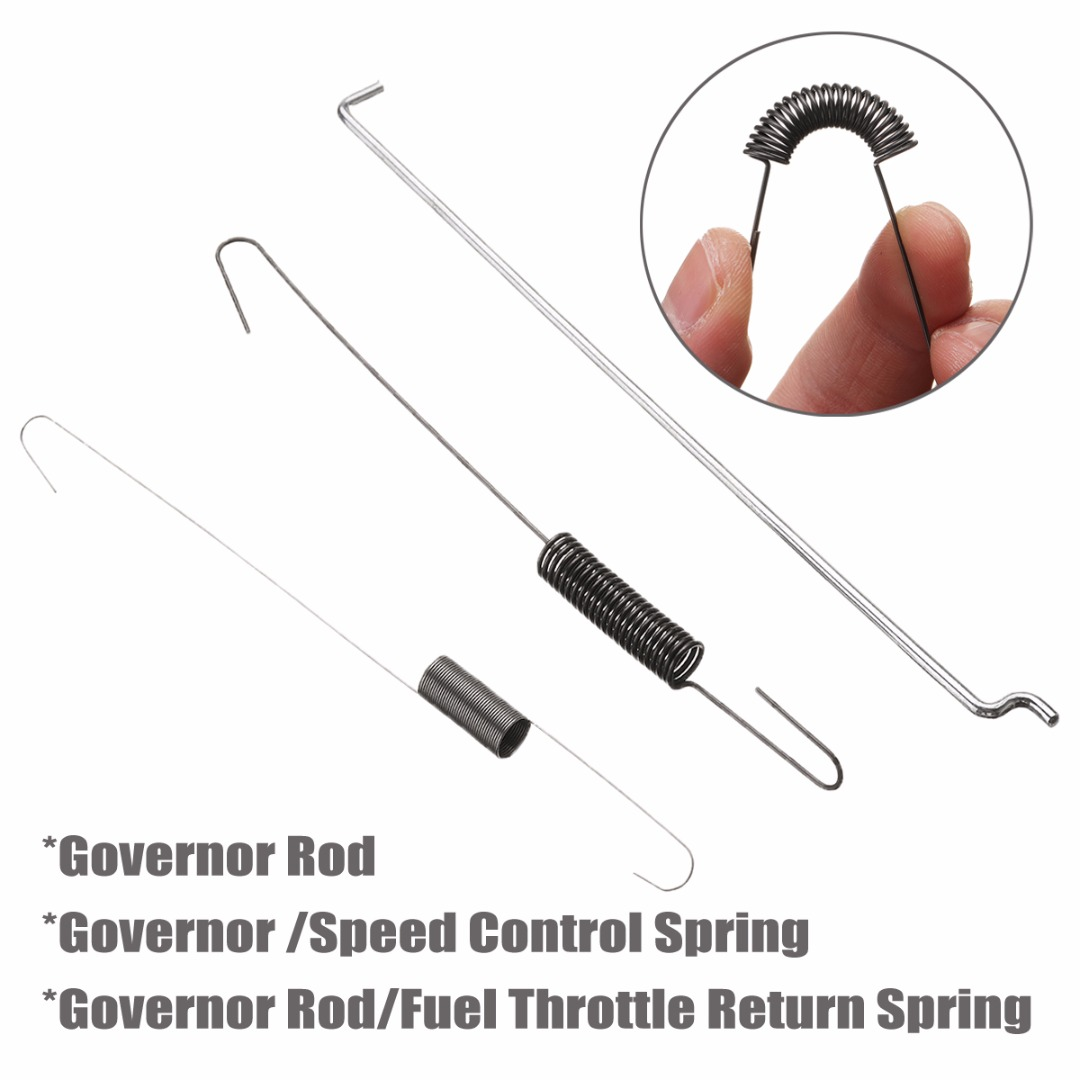 Newest  6.5HP Metal Throttle Return Spring Governor Link Rod Set 16555-ZE1-000 16561-ZE1-020 Fit For Honda GX140 GX160 GX200