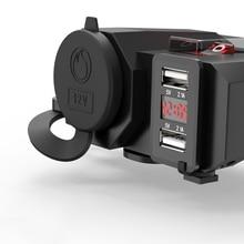 3 ב 1 USB הכפול נייד טלפון מטען עמיד למים מהיר תשלום תואם עם תצוגה דיגיטלית עבור iphone huawei samsung