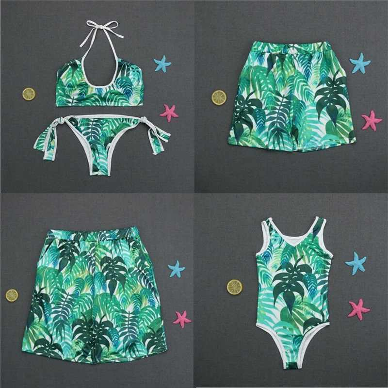 fdca52552e Family Matching Swimwear Family Swimsuit Mother Father Girls Boys Bikini Bathing  Suit Summer Swimwear Swimming Costume