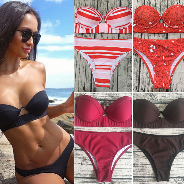 Sexy Brazilian Bikini Set Women Solid High Cut Bathing Suit Swimwear Summer Beach Wear Female Low Waist Red Swimsuit Biquini