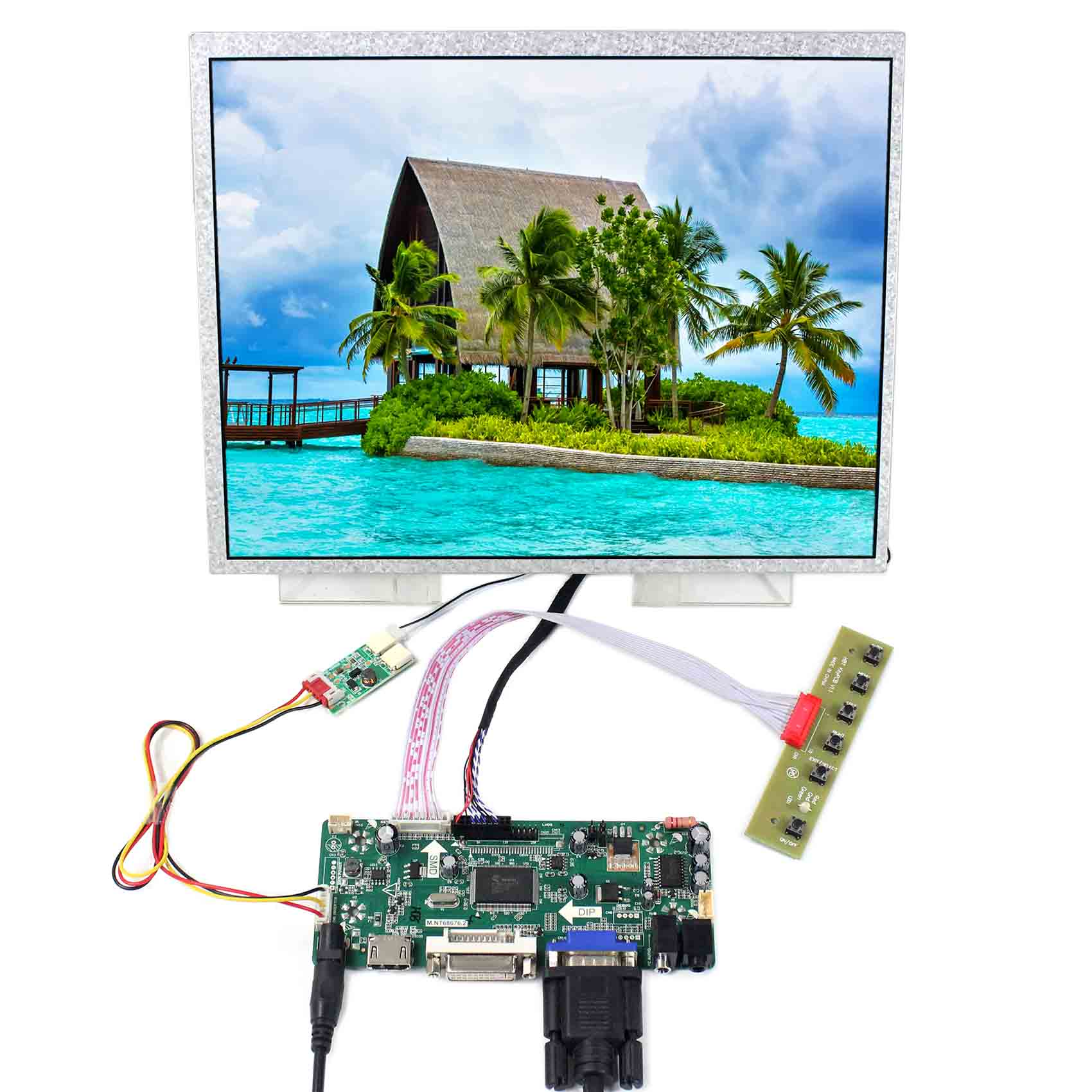 Audio LCD Controller Board lvds Kit For LTN141XA-L02 1024x768 HDMI VGA DVI
