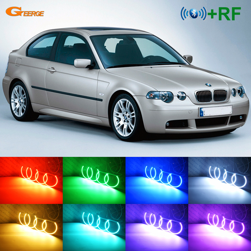For Bmw E46 3 Series Compact 2001 2005 Excellent Rf Bluetooth Controller Multi Color Ultra Bright Rgb Led Angel Eyes Kit