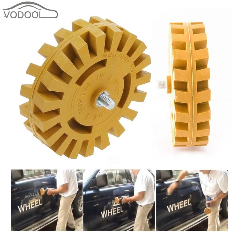 Pneumatic Car Sticker Film Glue Remover Pinstripe Decal Eraser Rubber Disk Paint Cleaner Car Wash Cleaning Polish Auxiliary Tool