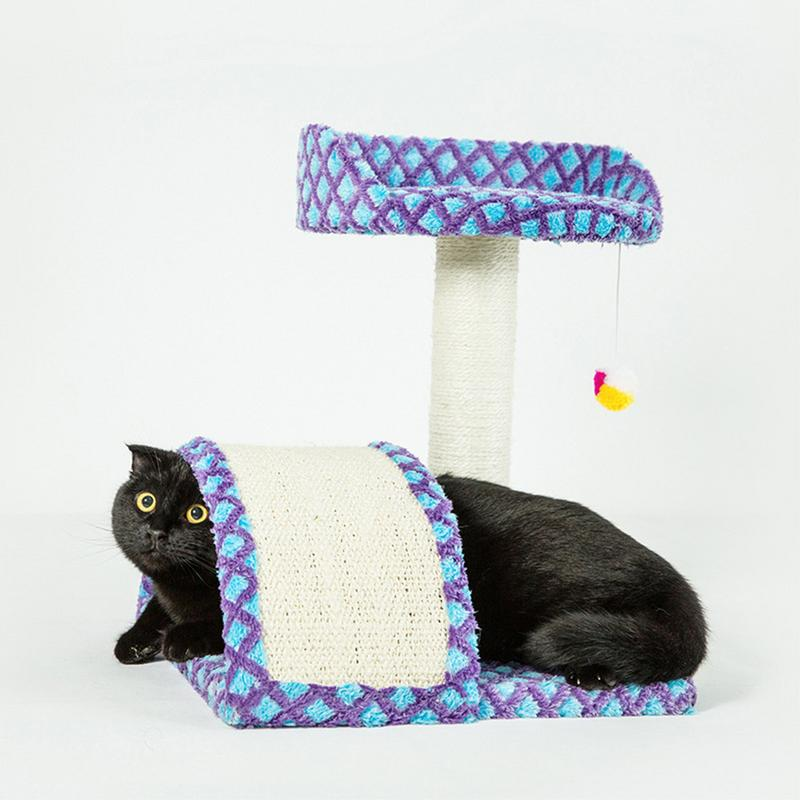 Cat Activity Tree House Climbing Frame with Scratching Pole Sisal Grinding Claws Cat Bed Toy Pet Supplies