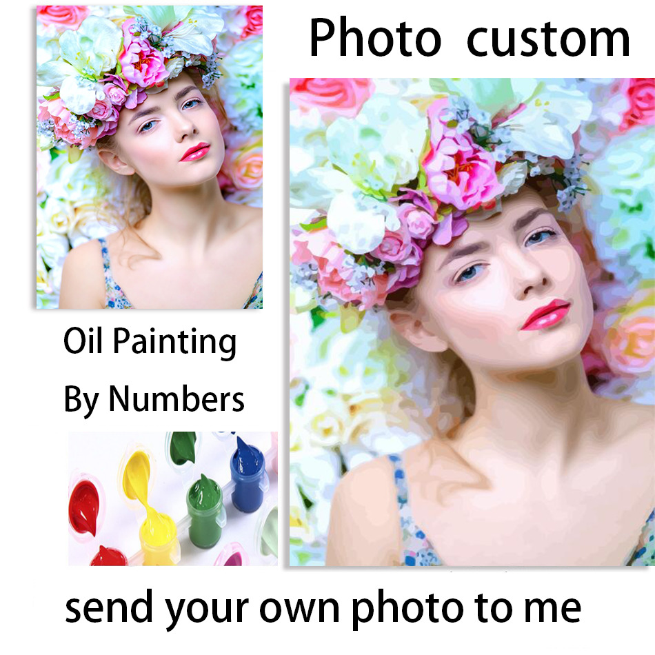 Painting By Number Personality Photo Customized DIY Oil Paint Picture Drawing By Numbers Canvas Coloring By Numbers Acrylic