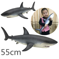 55x25x15cm Big Size Great White Shark Sea Life Blue Shark Action Toy Figures Simulation Animal Model Boys Toy for children Gifts