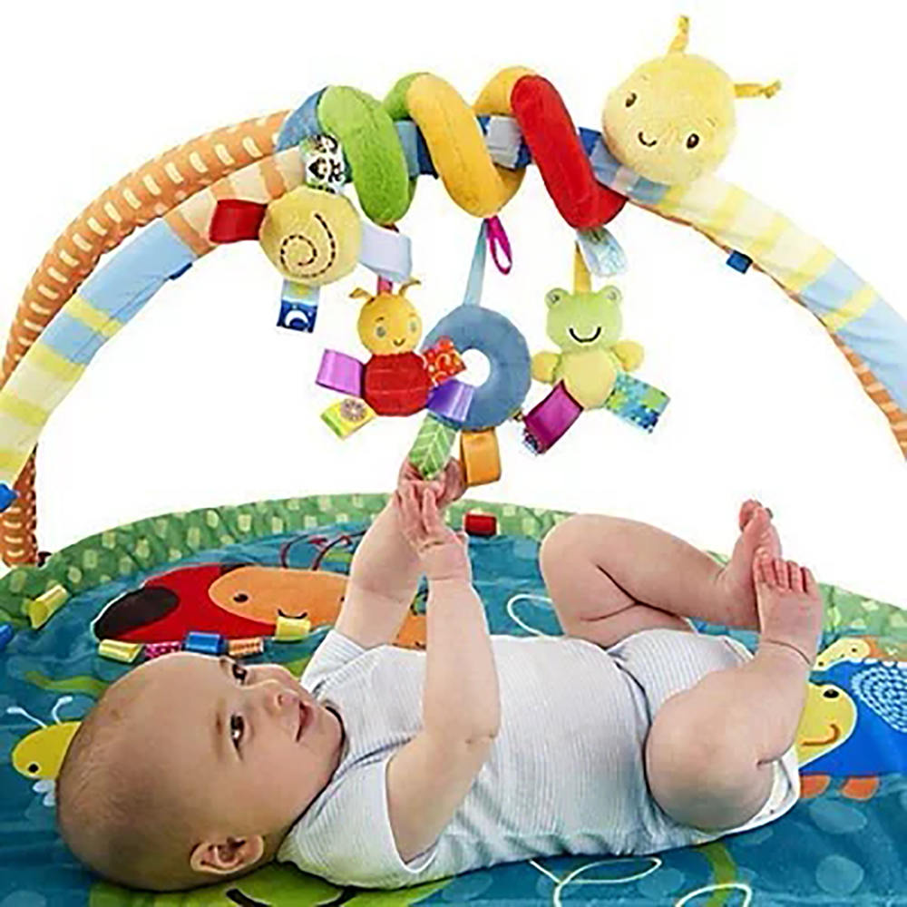 Baby Soothing Toy Bed Decor New Infant Mobile Baby Plush Bed For Newborn Baby Bed Room Decoration Bed Around Bumper