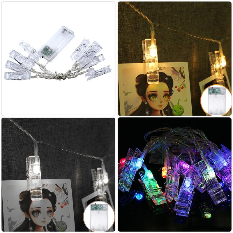 LED Photo Clip String Lights Wedding Holiday Party ...