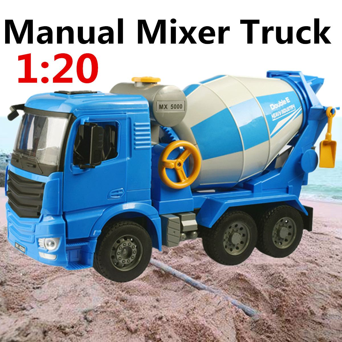 1:20 Scale Engineering Cement Mixer Truck Model ABS Plastic Toy Vehicle Concrete Car Large Engineering Car Kid Children Gift