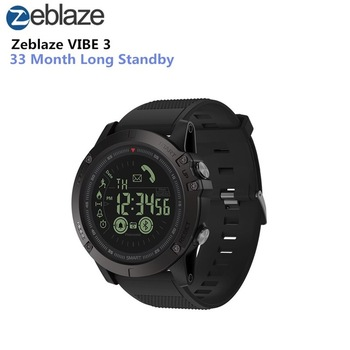 Zeblaze VIBE 3 Smart Watch Luminous Dial Low Battery Remind Moments Share Wristband orologio delle forze speciali