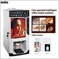 Xeoleo монета кофе машина 3 канистры 1600 мл * 3 торговый кофе машина Коммерческая монета кофеварка Автоматическая капельная кофе 820w
