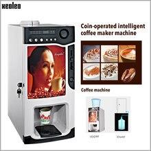 Xeoleo Coin machine à café 3 bidons 1600ml * 3 distributeur automatique de café machine à café commerciale Coin cafetière automatique goutte café 820w