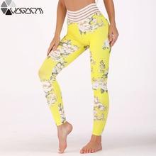 Mujer Yoga New Flower Printed Women High Waist Push Up Gym Leggings Fashion Hips Pockets Jogging Fitness Seamless