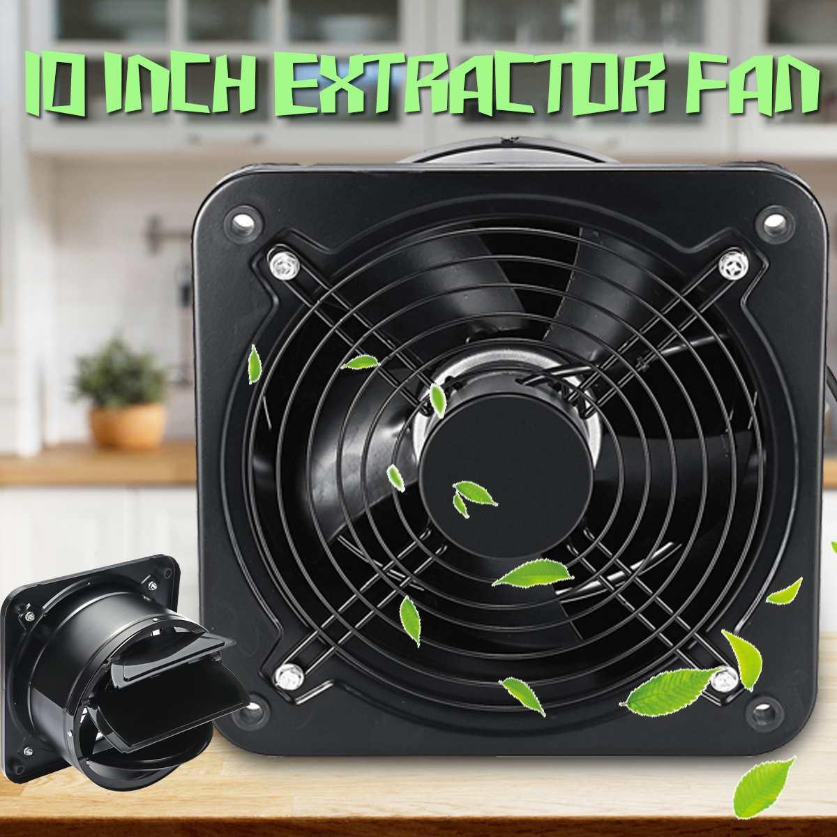 220V 10 Wall Window Extractor Ventilation Fan Low Noise Bathroom Kitchen Toilet High Speed Ventilator Industrial Exhaust Fan