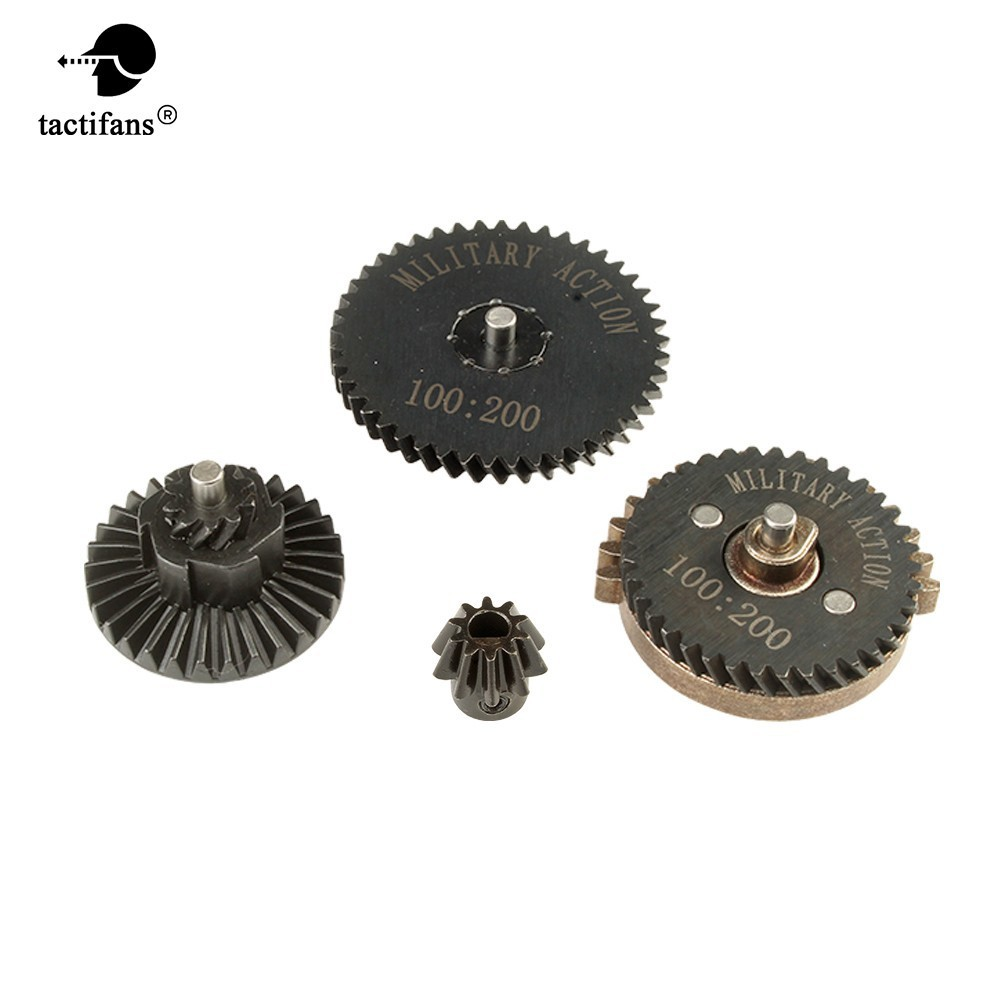 High Quality Military Action 100:200 High Torque Motor Pinion Gears Set For Ver.2 /3 Gearbox Hunting Army Paintball Accessories