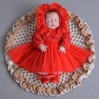 Petals Tulle Toddler Girl Christening Dress Infant Princess Party Dresses For Girls 2T Newborn Baby Girl 1 Year Birthday Dress
