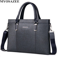 Classic Design Male PU Leather Briefcases Men Casual Business Bags Male Office Briefcase Bags Laptop Bag Travel