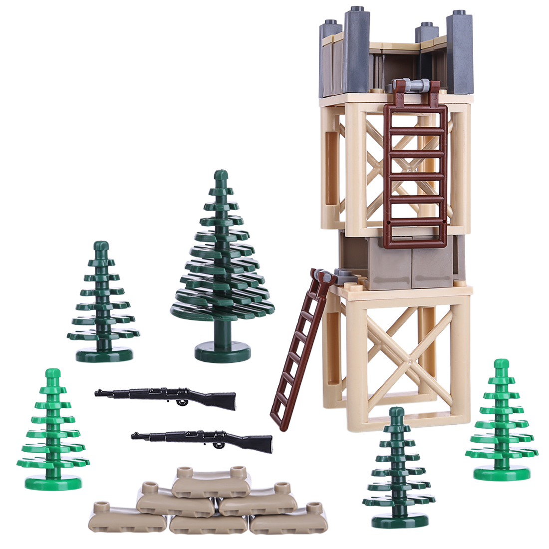 DIY Small Particle Military Equipment Building Blocks Accessories Puzzle Assembling Toys For Children Kids Boys Girls Baby Gifts