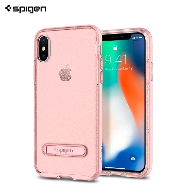 Защитный чехол Spigen для iPhone X Crystal Hybrid Glitter цвет розовый/057CS22150/100/50